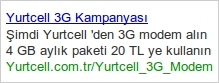 Google Adwords reklam ornegi